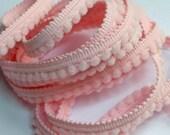 2 m de galon micro pompons rose clair