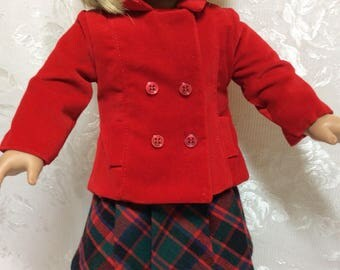 "Perfect for Happy Holidays in outfit made to fit 18"" American Girl Doll"