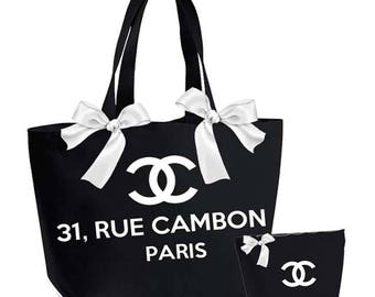Extra large tote 31, rue cambon paris and its pouch