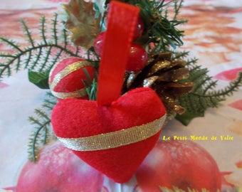 Golden Red Ribbon heart