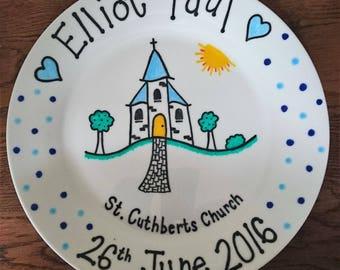 Christening Plate