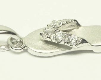 Sterling Silver Slipper Pendant!! Made in Hawaii!