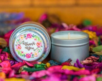 Thank You 2oz Petite Soy Wax Candle Tin | Engagement | Wedding Favour | Party Favour | Bomboniere