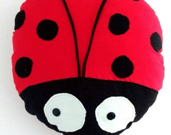Ladybug pillow to cuddle