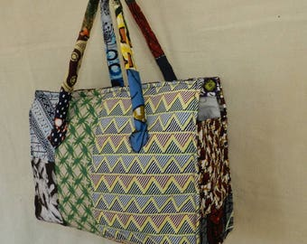 Chic No. 33 purse or bag lady fabric stuffed with closing zipper and two pockets