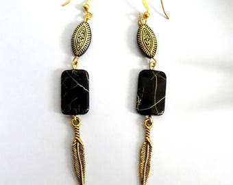 """Dhal"" ethnic chic earrings"
