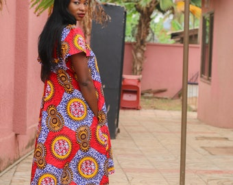 African Print Day Dress by GoWoman