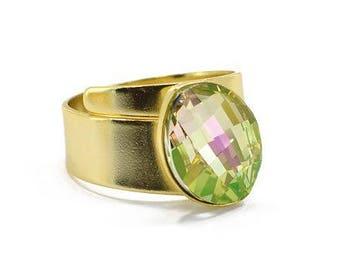Ring with Swarovski Crystal