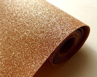 Tissu micro paillettes,  glitter coloris or rose 30/25cm, à coudre pour customisation, couture et DIY , lavable