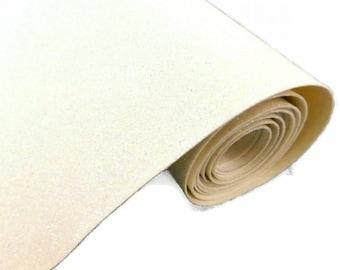 Tissu micro paillettes,  glitter coloris blanc 30/25cm, à coudre pour customisation, couture et DIY , lavable