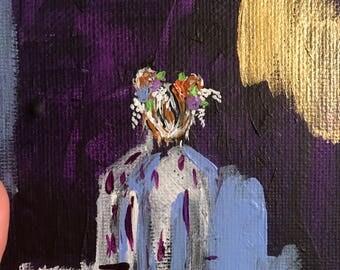 Girl with flowers no. 1 ORIGINAL
