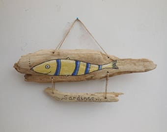 Driftwood wall hanging * sardine