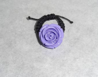 Ring with purple flower