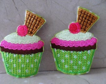 set of 2 sconces cake muffin on 50 x 73 mm