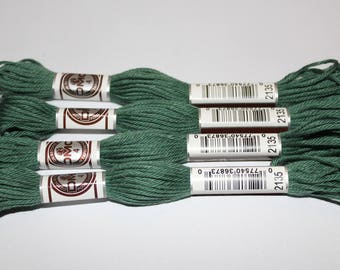 Embroidery thread plied DMC matte 2135 for canvas or bracelets