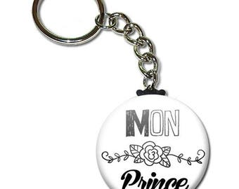 My Prince key chain 38mm (man husband birthday sweetie Valentine's day gift idea)