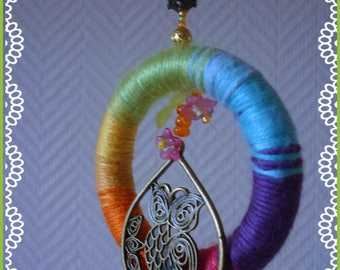 Interior: suspension colored OWL and Bohemian style beads