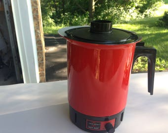 Vintage West Bend Red Hot Pot