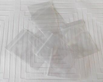 Set of 100 bags transparent zip closure