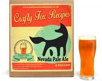 Crafty Fox 5 Gallon Beer Making Recipe Kit- Nevada Pale Ale