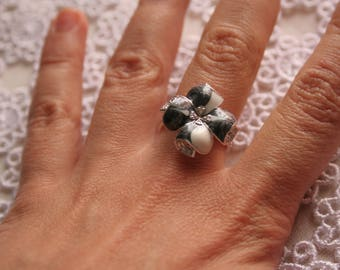 Ring silver Fantasia and enamel T54