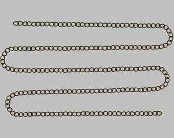 4 meter length of chain bronze metal 4, 8 x 3, 7 x 0, 7mm