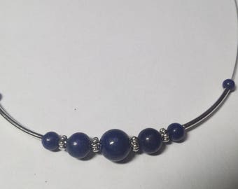 Lapis lazuli wired necklace genuine 1