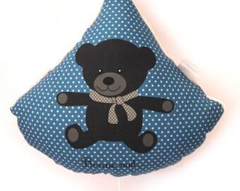 Blue polka dots printed music box