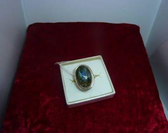 Genuine LABRADORITE gemstone ring