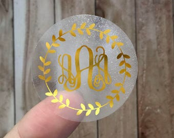 Initial Letter - Gold Foil Labels - Sticker - Seal - #24
