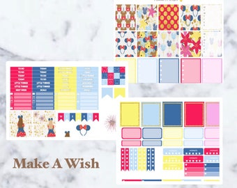 Make A Wish. Disney Weekly Kit. Erin Condren Vertical Weekly Kit. Disney Castle Kit.