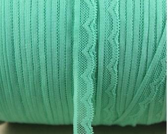 Lace elastic Mint green color
