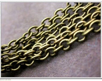 piece of metal bronze finish non-soldered 60 cm chain