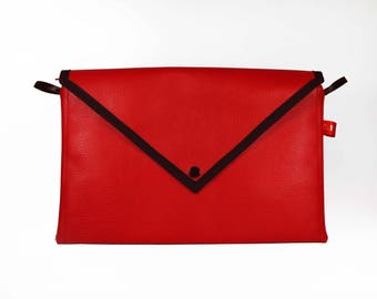 Red wallet imitation leather