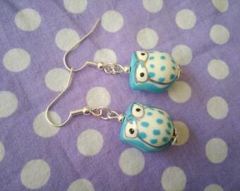 OWL earrings / turquoise OWL