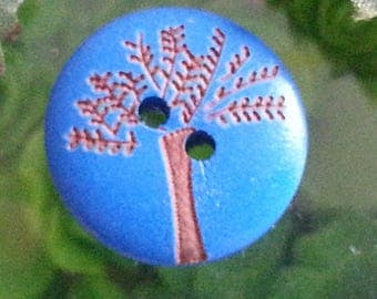 Round buttons, DIY, wooden buttons, about 20 mm in diameter, 5 mm thick, hole: 2 mm