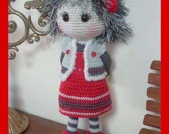 Crochet Amigurumi doll, Tiphaine (2)
