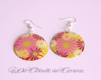 Psychedelic flowers earrings