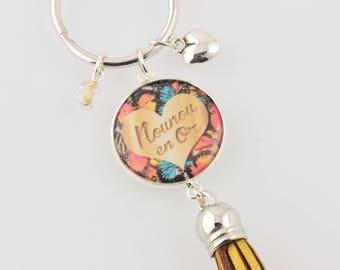 "Keychain ""Nanny in gold"""