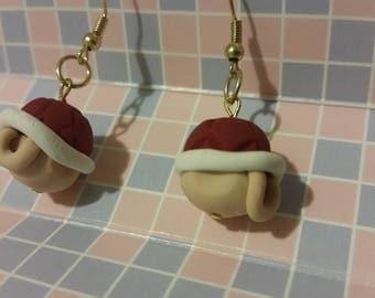 Mario Red Shell Earrings