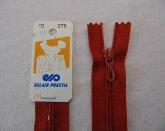 Zip closure, nylon, caramel brown, 55 cm (Z51 975)