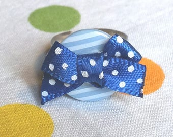 "Ring ""Lady Pirate blue"" - blue / white series"