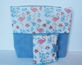 Pink flamingos seamstress set - unique