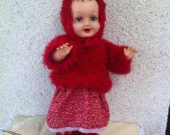 Set for dolls red 45-50cm