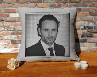 Andrew Lincoln Pillow Cushion - 16x16in - Grey