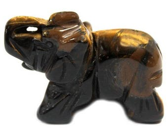 This figurine 5cm Tiger eye elephant