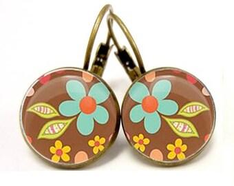 Earrings fall flowers