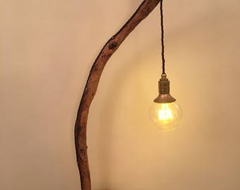 The Bow - wooden lamp