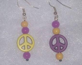 Mimnesota Vikings Peace Earrings