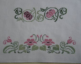 Liberty pink and green embroidery